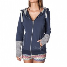 Mystic Hooded Zip Sweat Snug blau